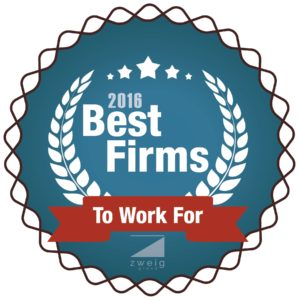 BrightFields, Inc Wins Best Firm to Work For in the Environmental Category by Zweig Group 2016