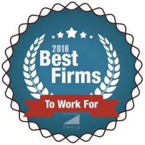 Best Firm to Work For Zweig2016